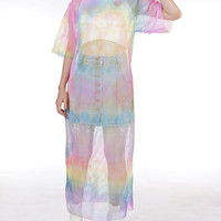 Glitters For Dinner — Ready To Post - Rain Bow Tie Dyed Maxi Dress