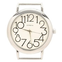 Create Your Own Watch - White Interchangeable Circle Watch Face - Large