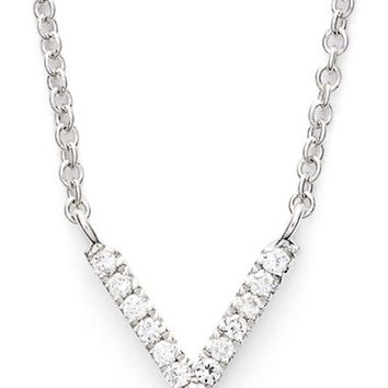 Women's Bony Levy V Diamond Pendant Necklace (Limited Edition) (Nordstrom Exclusive)