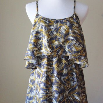 Halter dress with open back