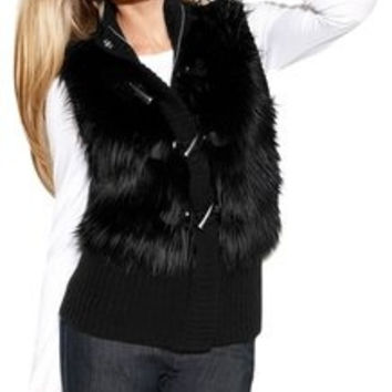 Michael Kors Size Small Fur Toggle Vest (KORS Michael Kors)