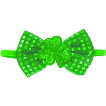 St. Patrick's Day Jumbo Bow Headband