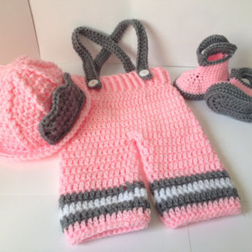 Adorable Girls/ Boys Fireman Set - Any Color Combo - 0 to 6 months available