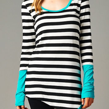 Striped Split Tunic