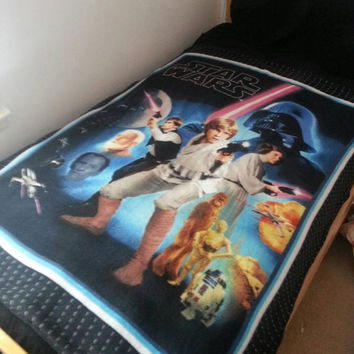 Star wars retro fleece throw blanket
