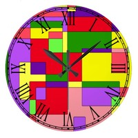 Retro Colorful Abstract Wallclocks