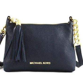 Michael Kors Bedford Leather Crossbody Bag Purse with Tassel