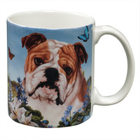 English Bulldog Garden Party Fun Mug