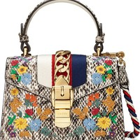 Gucci Mini Sylvie Genuine Snakeskin Top Handle Bag | Nordstrom