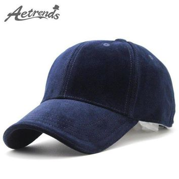 PEAPON AETRENDS 2017 New Brand 100% Cotton Baseball Cap Men Sport Hats Polo Hiking Hat Z-3023