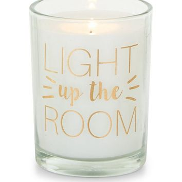 Pink Light Up The Room Candle