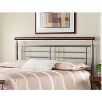 Fontane Headboard Silver/Cherry Metal (Full) - Fashion Bed Group