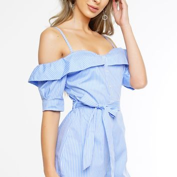 Catalina Romper - Light Blue