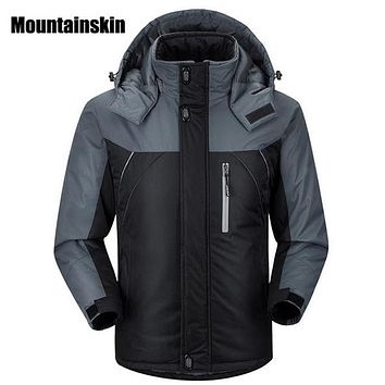 2017 Men's Winter Jackets Mens Thicken Patchwork Outwear Coats Male Hooded Parkas Thermal Warm Plus Size5XL Brand Clothing WA192