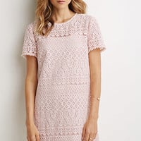 Ornate Lace Shift Dress