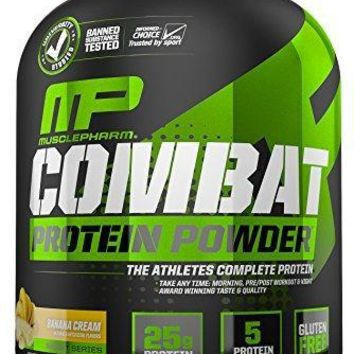 Muscle Pharm Combat Powder Advanced Time Release Protei, Triple Berry, 4-Pound Tub