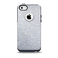 The Silver Sparkly Glitter Ultra Metallic Skin for the iPhone 5c OtterBox Commuter Case