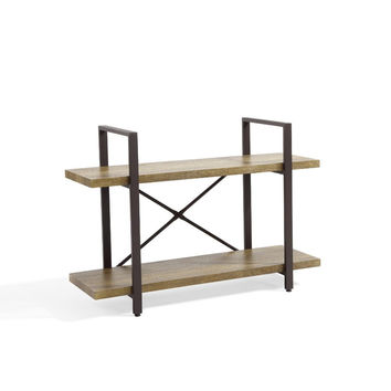 DanyaB Two Level Rustic Shelving Unit