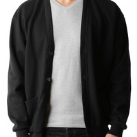 LE3NO PREMIUM Mens Oversized Soft Knit V Neck Cardigan Sweater