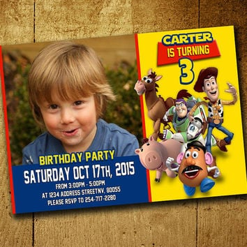 Invitations - Toy Story Invitation - Toy Story Birthday - Toy Story Invitations - Boys Invitation - Toy Story - F23