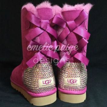 CUPUPS UGG? Australia Bailey Bow boots with Swarovski Crystals