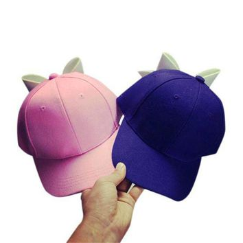 NEW fashion great sale hat Peaked Caps Adjustable 1PC Solid Bow Girl Cap Snapback Hip Hop Cap Flat Cotton 17517 P42 17523 P38