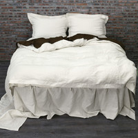 Linen Duvet Cover Chalk