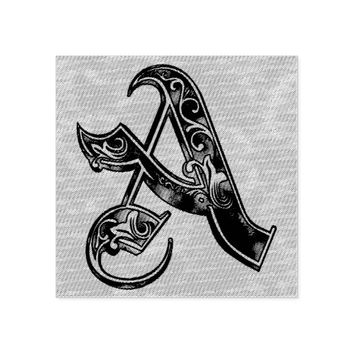 Letter A Rubber Stamp