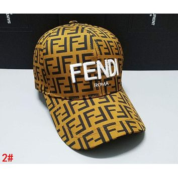 FENDI Fashionable Women Men Casual Embroidery Sports Sun Hat Baseball Cap Hat 2#
