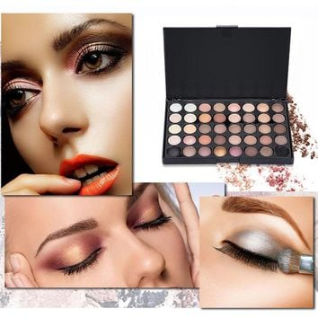 Pearl Matte Shimmer Eye Shadow Compact Palettes Earth Warm Luminous Sets Makeup Palette Eye Shadow Cosmetic 40 Color  Eyeshadow