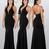 Sexy evening gown & Fitted formal dress  pol#8262