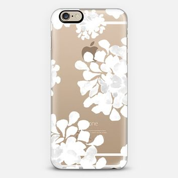 white flowers iPhone 6 case by Marianna | Casetify