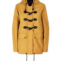 Mustard Yellow Toggle Front Anorak | New Look