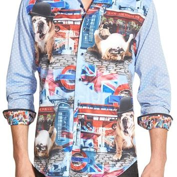 Men's Robert Graham 'English Bulldog' Classic Fit Graphic Sport Shirt,