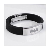 New Men's Black Batman Superhero Bracelet Wristband Fashion Gift Stainless Steel