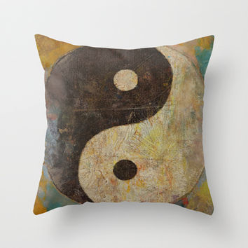 Yin Yang Throw Pillow by Michael Creese | Society6