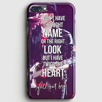 Fall Out Boy Lyric Cover iPhone 8 Plus Case | casescraft