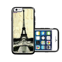 RCGrafix Brand Paris Eiffel Tower Collage iPhone 6 Case - Fits NEW Apple iPhone 6