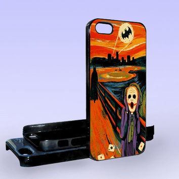 Scream Batman and Joker - Print on Hard Cover - iPhone 5 Case - iPhone 4/4s Case - Samsung Galaxy S3 case - Samsung Galaxy S4 case