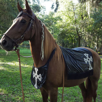 Knights Templar Horse Costume - Medieval Horse or Pony Costume - Dark Knight Equine Costume