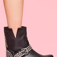 Frankie Studded Boot in  Shoes at Nasty Gal