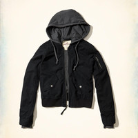 Girls Hooded Bomber Jacket | Girls New Arrivals | HollisterCo.com