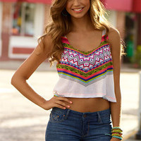 Demi Cropped Graphic Tank