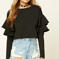 Textured Tiered Sleeve Top