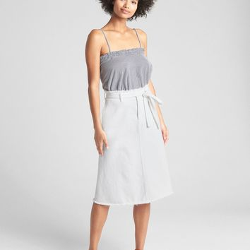 Belted A-Line Denim Skirt | Gap