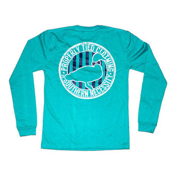 """TRADITIONAL LOGO"" TEAL L/S"