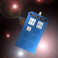 Doctor Who TARDIS Art Print 8x10 or 8.5x11