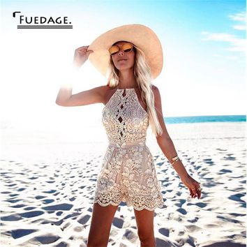 sexy rompers womens jumpsuit cropped backless sleeve lace playsuit bodycon jumpsuit overalls   elegant women jumpsuit