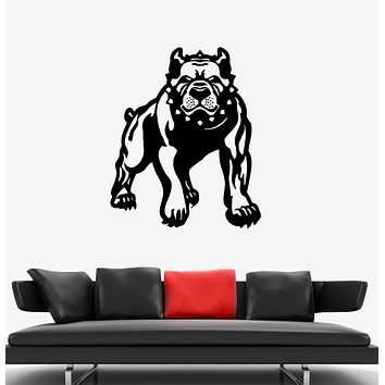 Wall Decal Evil Angry Dog Pit Bull Beast Pet Vinyl Sticker (ed1504)