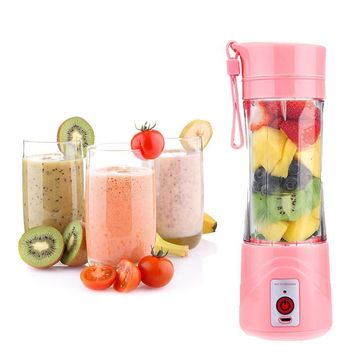 380ml USB Rechargeable Juicer Bottle Cup Juice Citrus Blender